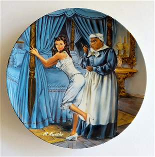 Vintage China Plate Knowles Mammy Lacing Scarlett