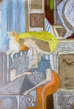 MILDRED CROOKS Original Pastel Painting, American 20th