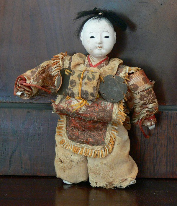 Vintage Antique Japanese doll 19th Century.