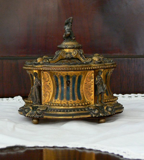 Antique 19th Century French Bronze Box