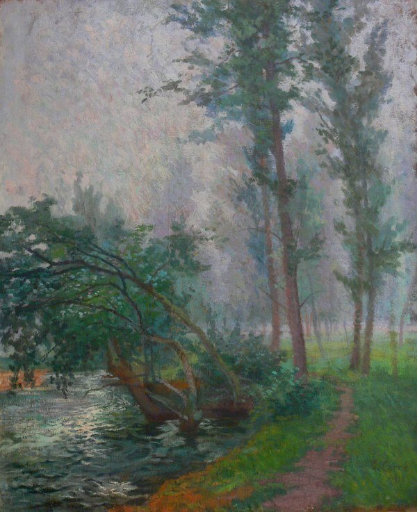 Antique French  Impressionism Oil by G. Carre 1910