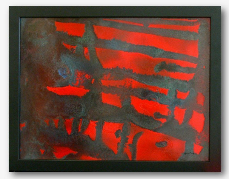 Old  Modernism Abstraction -  Acrylic signed Hartung