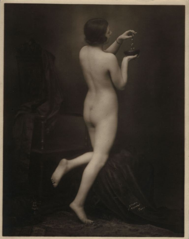 Julian Mandel (1872 - 1935) , photography nude signed