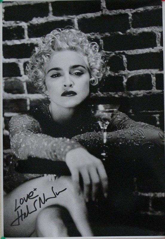 Madonna by Helmut Newton, Signed