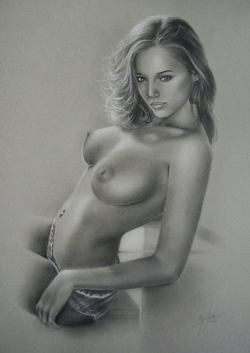 Stefan Schu, Original erotic pastel drawing