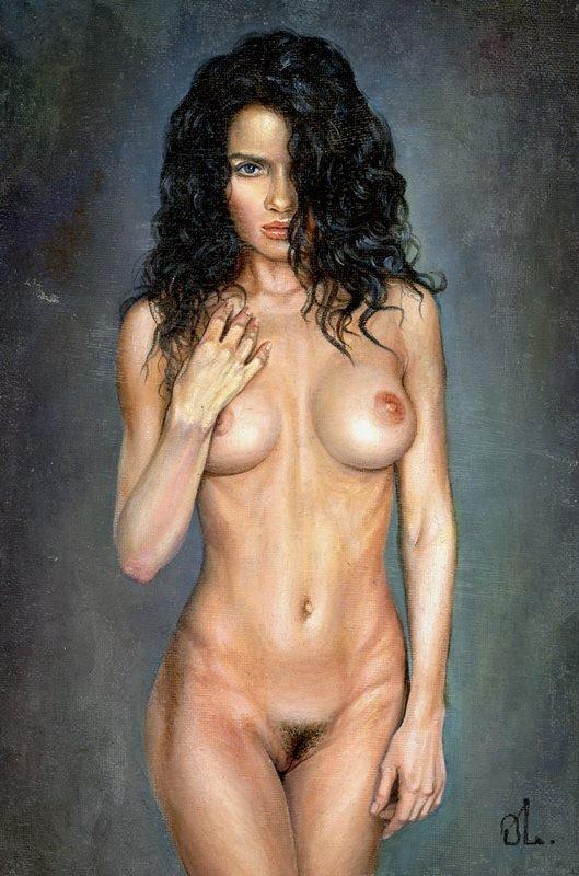 O. Malyshenko - Original oil canvas/board with erotic