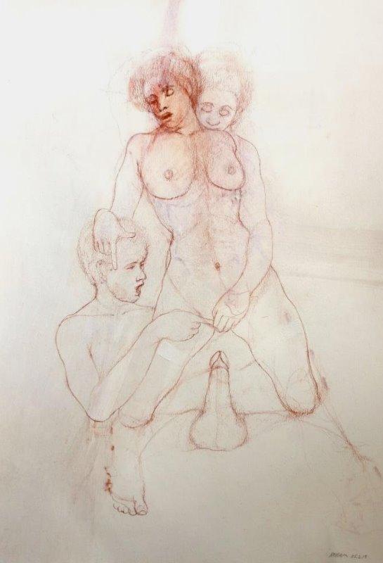 RAFAEL DUSSAN (1957 - ) Original Erotic Drawing