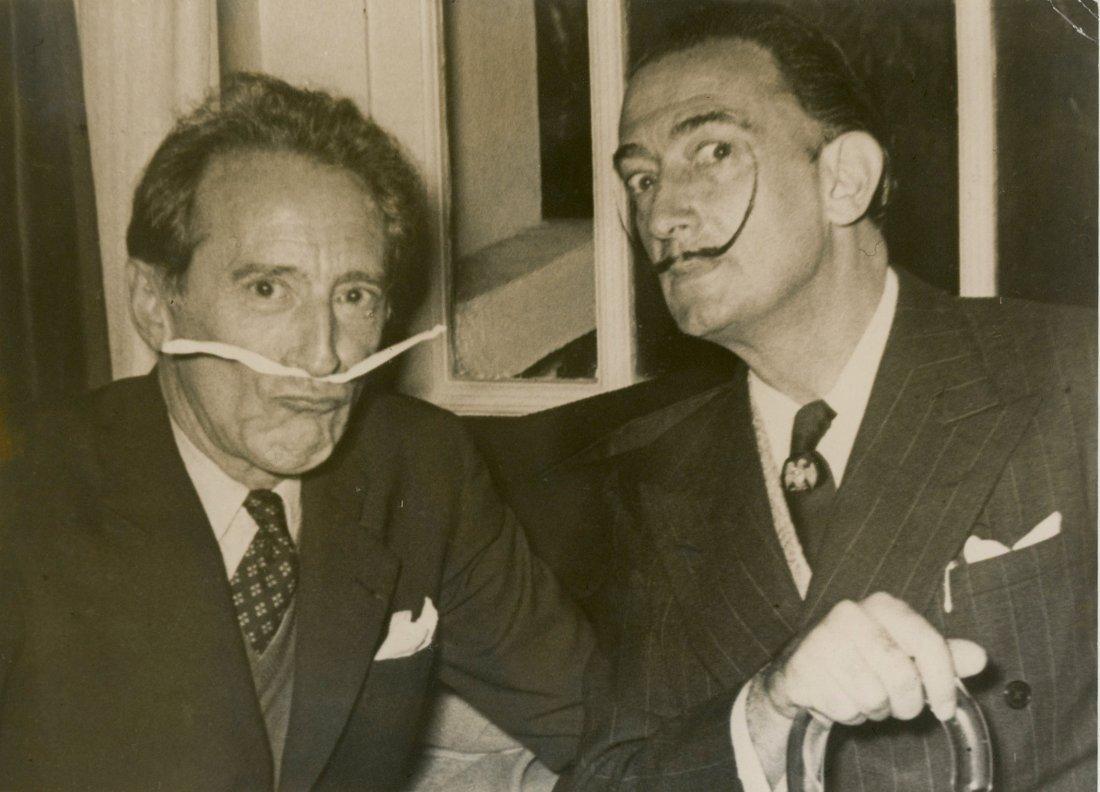 Rare Silver Gelatin Salvador Dali and Jacques Cooteau,