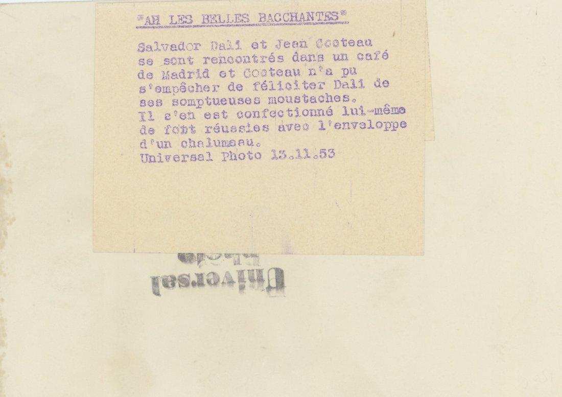 Rare Silver Gelatin Salvador Dali and Jacques Cooteau, - 2