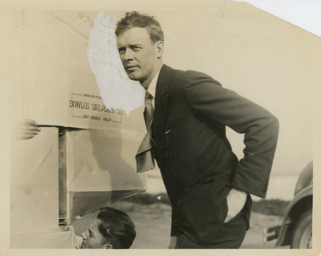 Rare Press Photo Aviator Charles Lindbergh, 1930