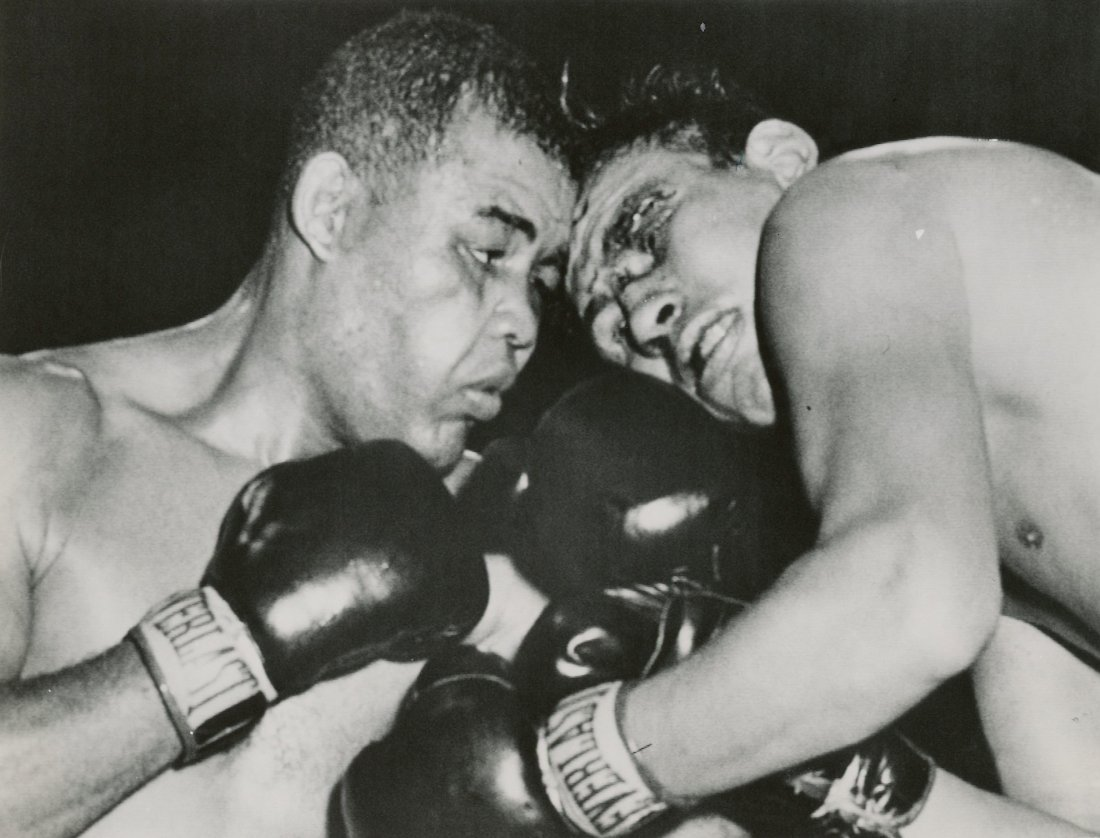 Press Photo Joe Louis vs. Cesar Brion, 1951