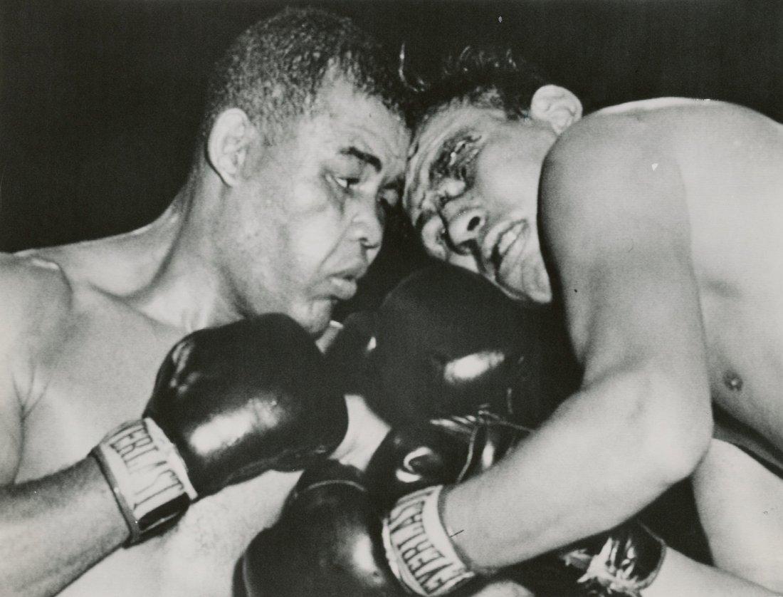 Press Photo Joe Louis vs. Cesar Brion, 1951
