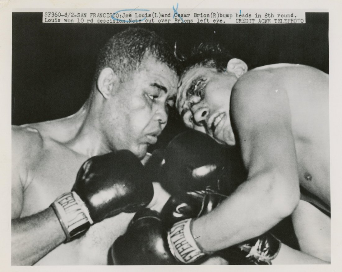 Press Photo Joe Louis vs. Cesar Brion, 1951 - 2