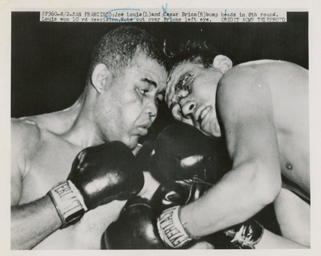 Press Photo Joe Louis vs. Cesar Brion, 1951 - 2