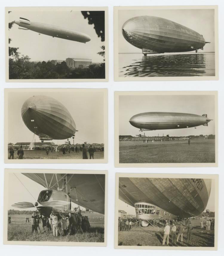 Very Rare set 12 photos Zeppelin Nazi during