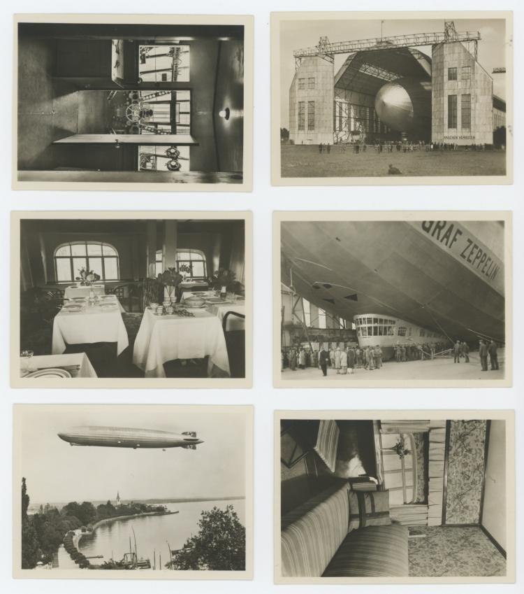 Very Rare set 12 photos Zeppelin Nazi during - 2