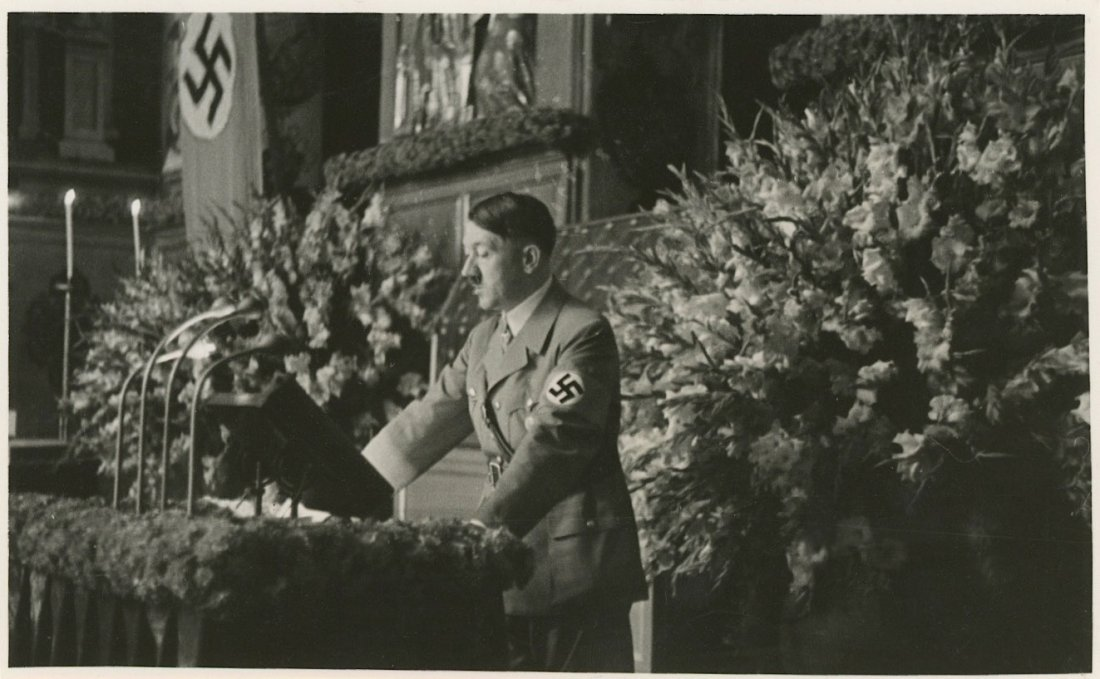 Large Agfa Brovira The Fuhrer Aldof Hitler, WWII Era