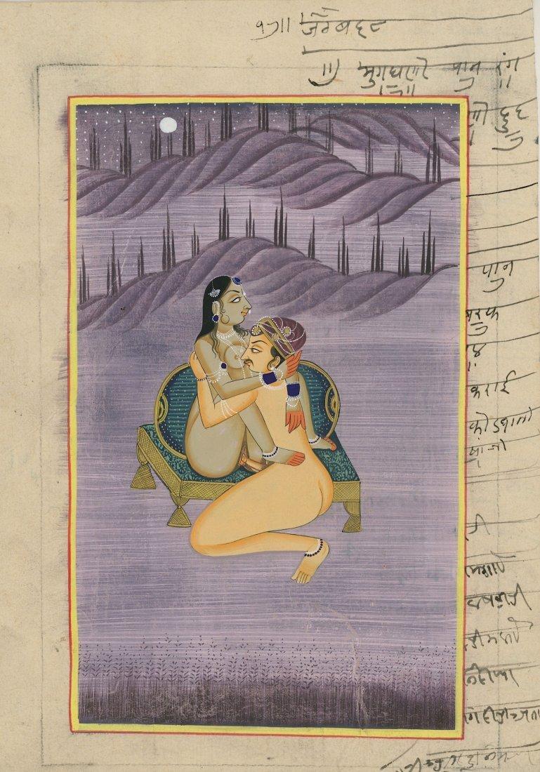 Old hand painted EroticKamasutra Design - 2