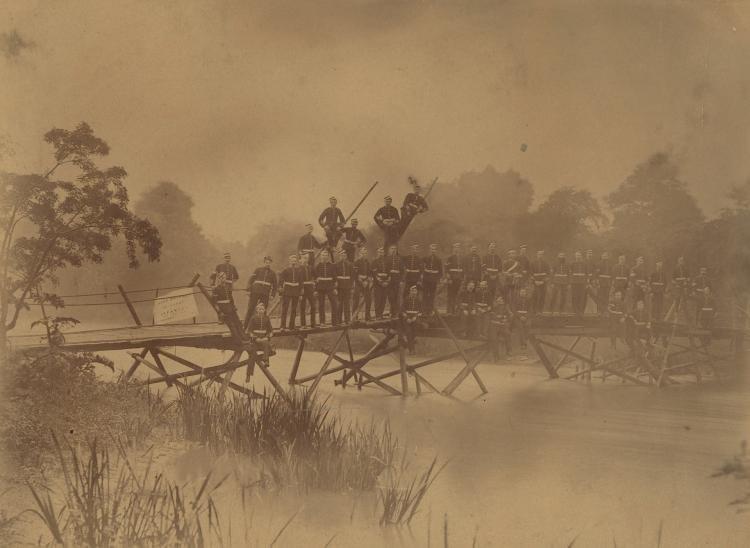 Civil War Albumina photo Engineering Infantry