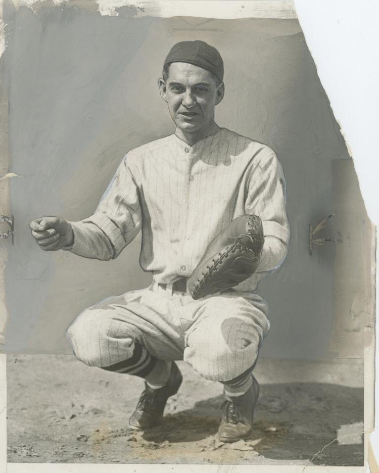 Silver Gelatin Muddy Ruel Baseball Catcher, 1929