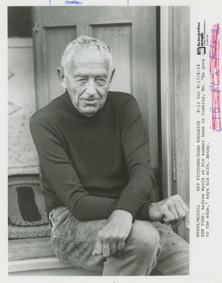 ANDREW WYETH, Rare Silver Gelatin, 1987 - 2