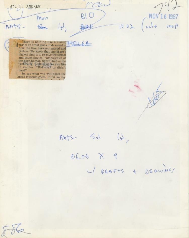 ANDREW WYETH, Rare Silver Gelatin, 1987 - 3