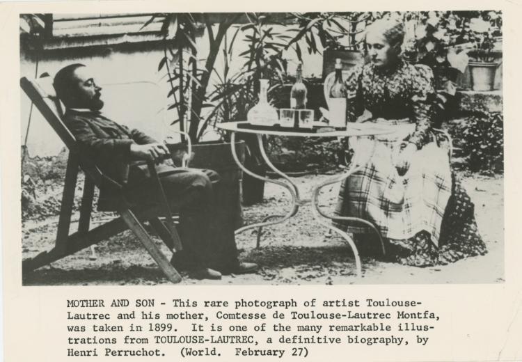 TOULOUSE-LAUTREC 1889 Rare Silver Gelatin, Printed - 2