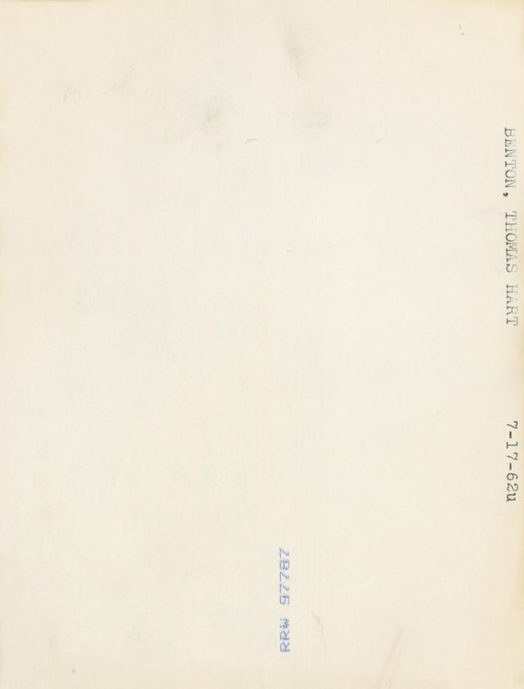 THOMAS HART BENTON, Rare Silver Gelatin, 1962 - 3