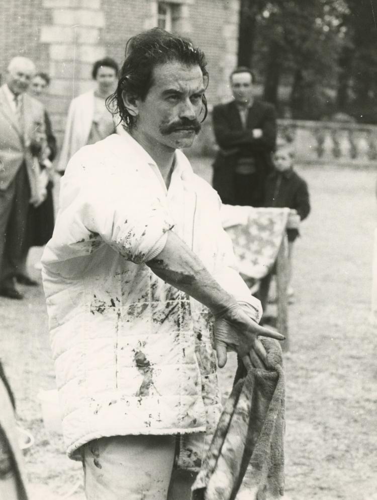 GEORGES MATHIEU, Rare Silver Gelatin, 1967