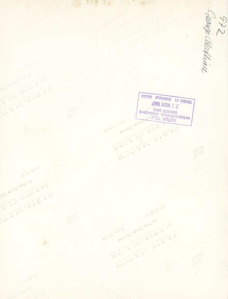 GEORGES MATHIEU, Rare Silver Gelatin, 1967 - 2