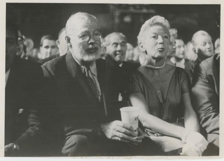 ERNEST HEMINGWAY & HIS WIFE in Paris, Rare Silver