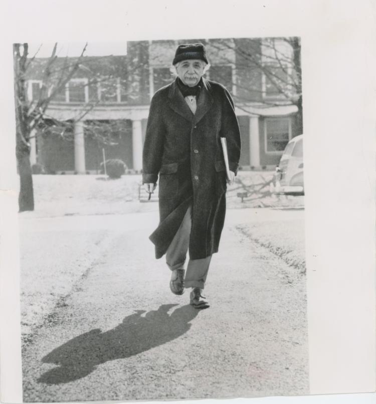 Silver News Photo Dr. Albert Einstein, 1955 - 2