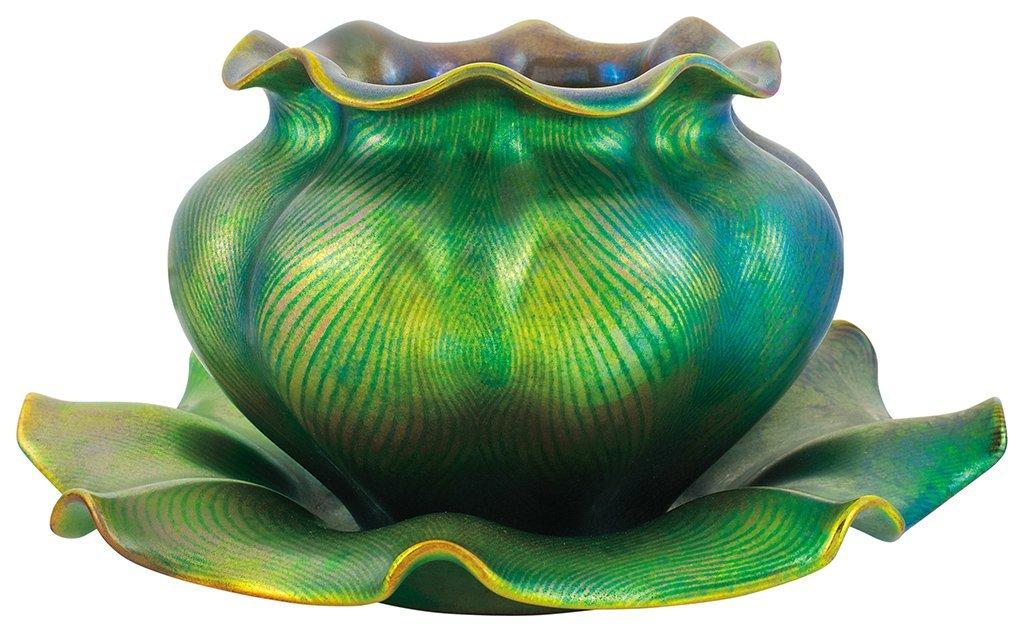 Zsolnay Collar' Vase with Tiffany-line decor