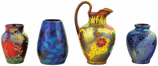 Zsolnay collection (3 vases and 1 pitcher)