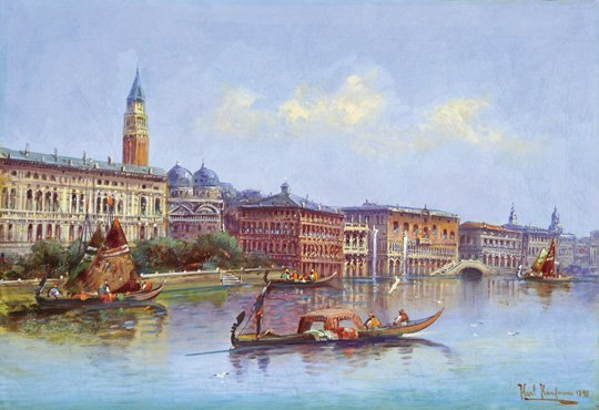 Karl Kaufmann (1843-1901): View of Venice