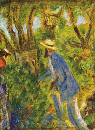 Rippl-Rónai József (1861-1927) Maillol painting my wife