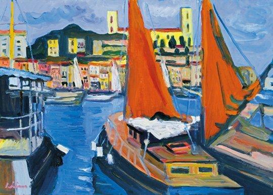 Schéner Mihály (1923-2009): Harbour in Menton