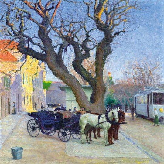 Rátz Péter (1879-1945): Fiacre