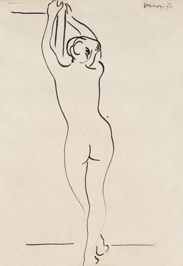 Vaszary János (1867-1939): Standing nude, 1910