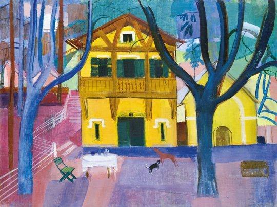 Mattioni Eszter (1902-1993): Villa garden