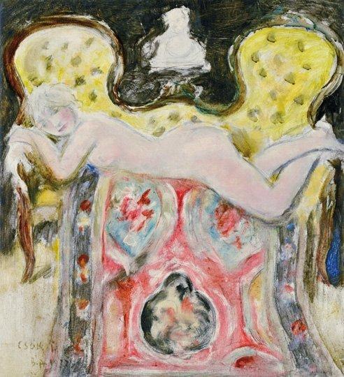 Csók István (1865-1961): Lying nude, 1917