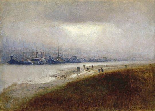 Mednyánszky László (1852-1919): Barges, around 1900