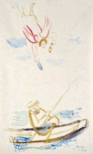 Ámos Imre (1907-1944): The wonderful fishing, 1937
