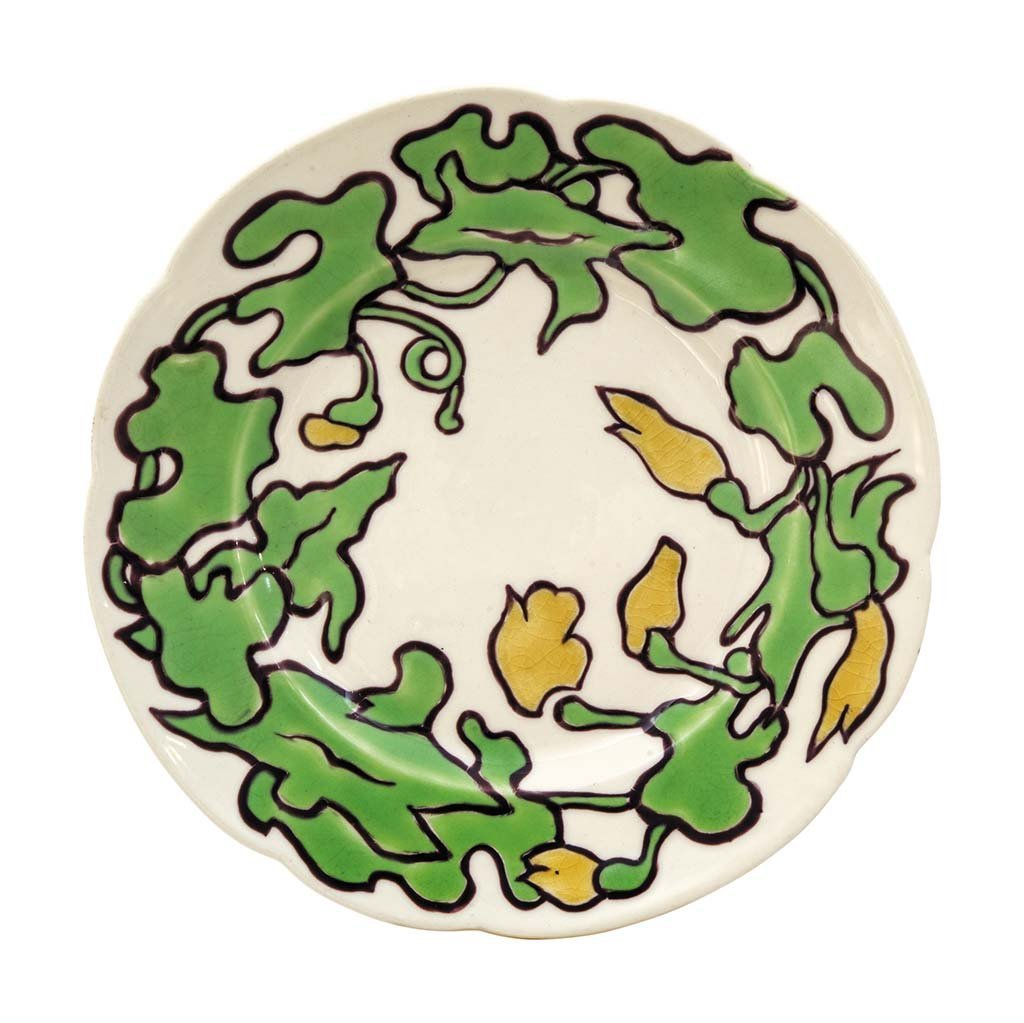 Plate from the Andrássy dining room set, Zsolnay, 1898,