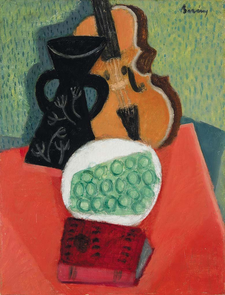 Still life with Grapes and Violin, c. 1928-1930