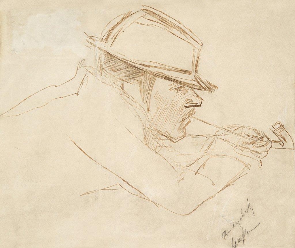 Mednyánszky László (1852-1919): Smoking a pipe