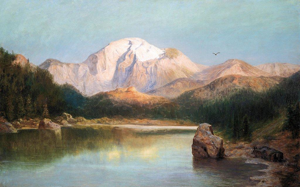 Telepy Károly (1828-1906): View of the Tatras, 1904