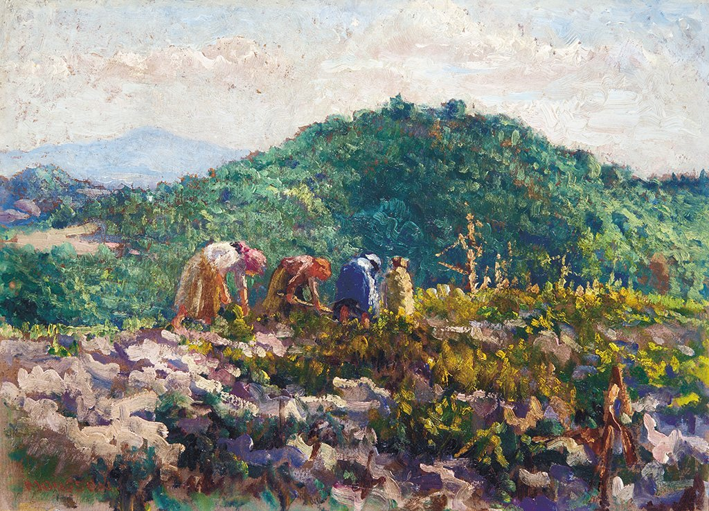 Mousson Tivadar (1887-1946): On the field