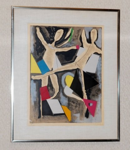 Marino (20th Century) Abstract Color Lithograph