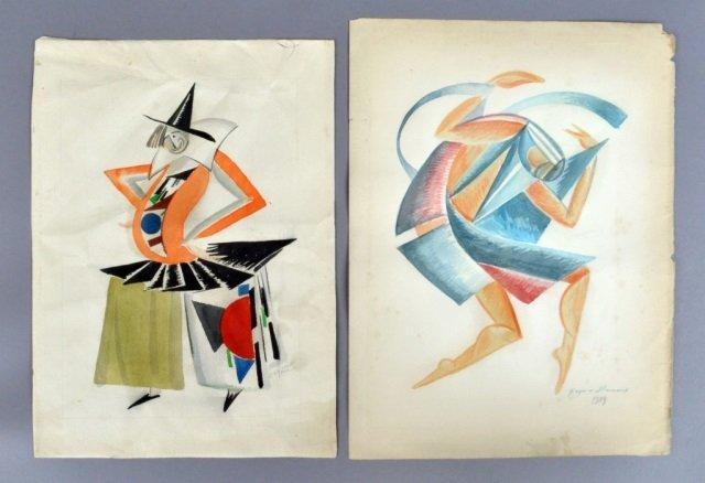 Russian Avant-Garde Watercolor Paintings